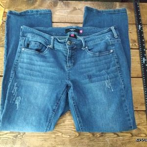 Torrid Distressed Mid Rise Boot cut Jeans Sz 14
